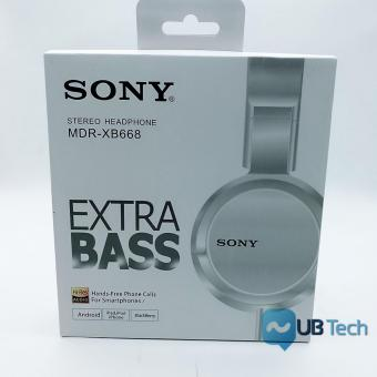 Sony MDR-XB668 With Mic Over-the-Ear Headphones (white)