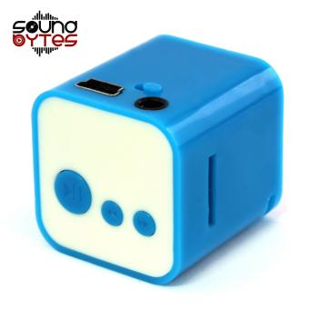 Sound Bytes CUBE MP3 Player Speaker (Blue)