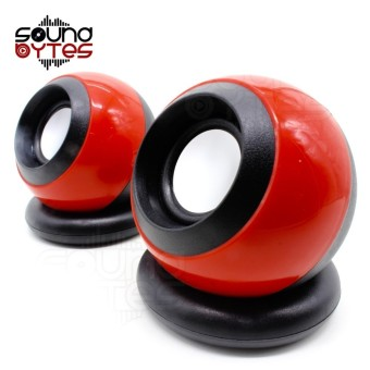 Sound Bytes D-008 Mini 2.0 Multimedia Digital Speaker (Red)