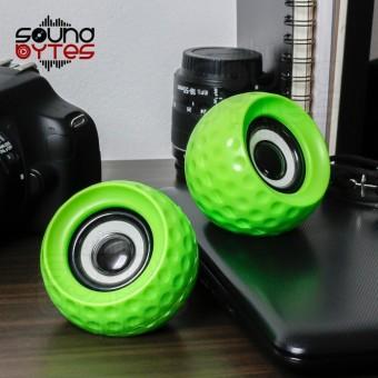 Sound Bytes E-11 Golf Ball Multimedia Speaker (Green)