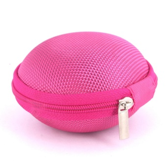 Sound Bytes Mini Round Storage Case Bag For Earphone Headphone(Pink)