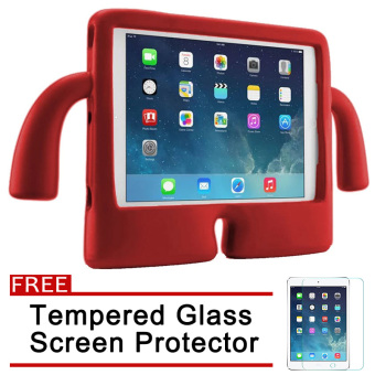Speck Kids Products iGuy Protective Shockproof Case for Apple iPad2 / 3 / 4 (Red) with Free Tempered Glass Screen Protector