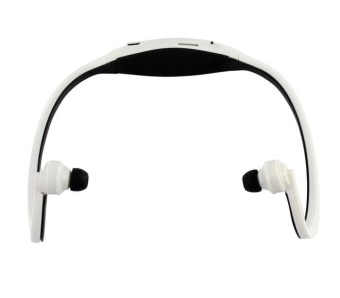 Sport Wireless Headphones MP3 Player TF FM Radio HeadsetWhite/Black - intl