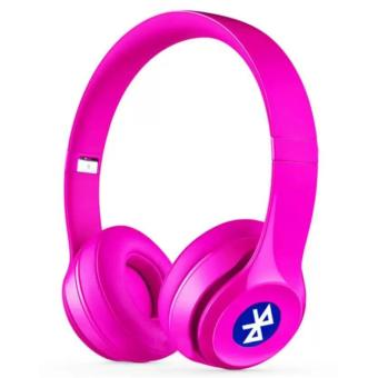 Sports ST-415 Stereo Wireless Bluetooth Headset with FM And MicroSD Slot (Pink)