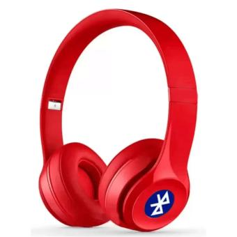 Sports ST-415 Stereo Wireless Bluetooth Headset with FM and MicroSDSlot (Red)