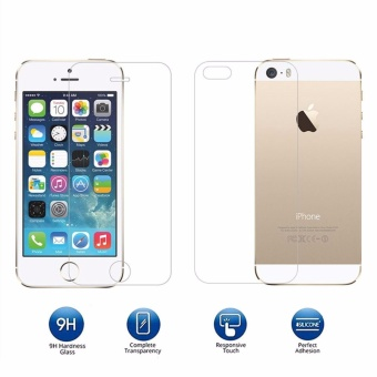 Tempered Glass for iPhone 5 5S 5C SE Front & Back Screen Protector 9H