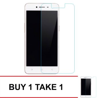 Tempered Glass For Oppo A37 Buy 1 Take 1 (Clear)