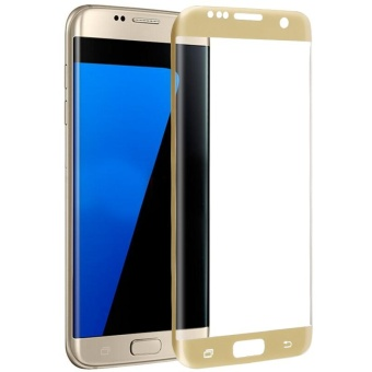 Tempered Glass Full Coverage Screen Protector For Samsung Galaxy S6Edge (Gold)