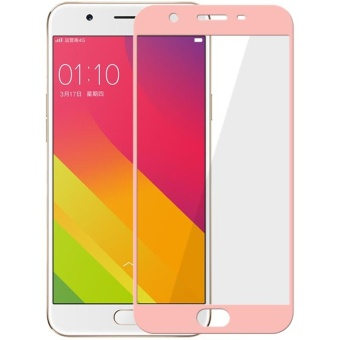 Tempered Glass Full Screen Protector HD For Oppo F3 (Rose Gold)