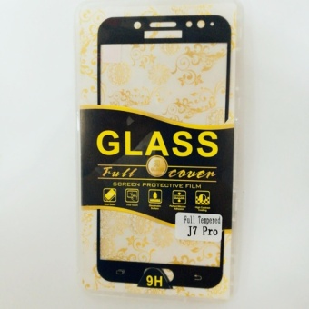 Tempered Glass Full Screen Protector HD For Samsung Galaxy J7 Pro(black)