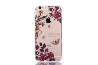 The New Apple 7 plus Mobile Phone IPhone 7 plus Mobile Phone ShellPainted Butterfly Acrylic Anti Fall Protective Sleeve - intl