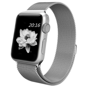 top4cus Milanese Magnetic Loop Stainless Steel Strap Watch Bands For Apple Watch iWatch Series 1 and 2 -- 38MM(Silver)