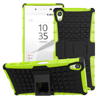 TPU + PC Armor Hybrid Case Cover for Sony Xperia Z5 Premium (Green)