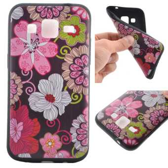 TPU Silicone Case Cover for Samsung Galaxy Core Prime (SM-G360)(Flowers) - intl