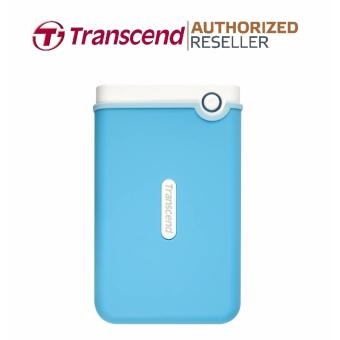 Transcend StoreJet Rugged Compact 25M3B 2TB 3.0 Portable Hard Drive (Baby Blue) + 3 YEARS WARRANTY