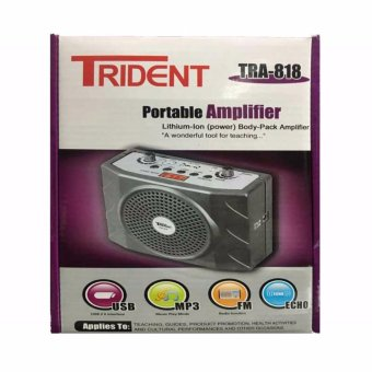 Trident TRA-818 Portable Body-Pack Amplifier FM Radio/MP3 Player with Lapel Mic (Grey) Price Philippines