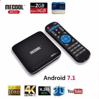 TV BOX MECOOL M8S PRO+ Android 7.1 Amlogic S905X Quad Core 2GB ROM 16GB WIFI H.265 4K Movies Smart TV Box Android Media Player