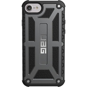 UAG Monarch Design Armour Rubber Case For Iphone 7 (Grey) with FREE Earphone (Color May Vary)