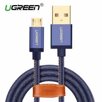 UGREEN Micro USB 2.0 Cable Denim Braided Sync and Fast ChargingData Cable for Android Mobile Phone - 2M - intl