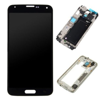 UK LCD Display Touch Screen Digitizer + tools For Samsung Galaxy S5i9600 G900A - intl