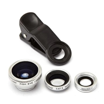 Universal 3 In 1 Clip On Fish Eye Mobile Camera Lens