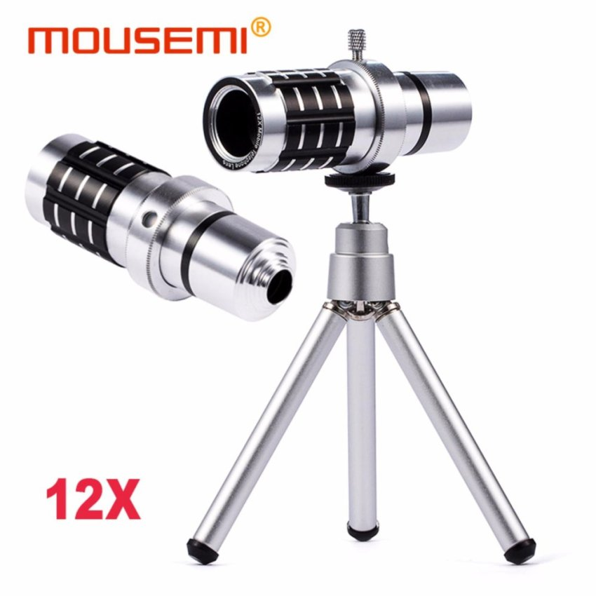 Universal Clip 12X Telephoto Lens For Camera Cell Mobile PhoneTelescope Zoom Lens With Tripod For iPhone 7 6s Smartphone Lenses -intl