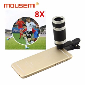 Universal Clip 8x Telescope Lens Camera Cell For Mobile Phone 8xZoom Telephone Lenses to Smartphone Lens For iPhone 5 6s 7 plus -intl