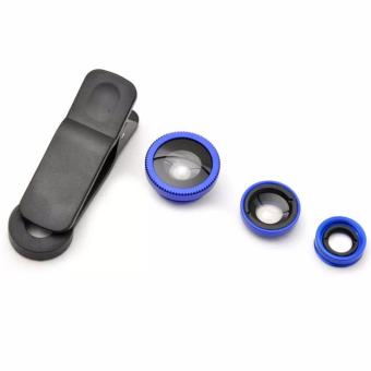 Universal Clip Lens for Mobile Phone (Black/Blue)