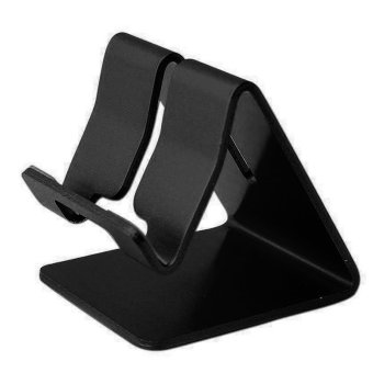 Universal Solid Aluminum Alloy Metal Mobile Phone Desktop StandMount Holder Stander Cradle for Phone/iPad (Black) Price Philippines