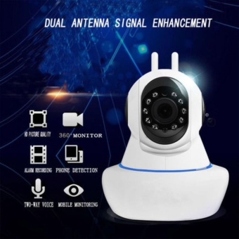 V380+ Wifi Wi-Fi wireless 1080P HD IP SECURITY CAMERA 1080Phigh-definition night vision mobile phone network integratedmachine(Dual antenna)