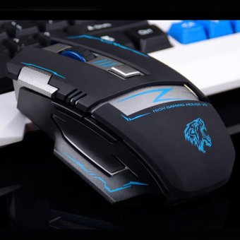 V5 2.4GHz Wireless Rechargeable Silent Mute Optical Usb Gaming Mouse Mice 2400DPI Ergonomic Gamer Mouse - intl