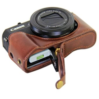 Vintage Leather Camera Case for Canon powershot G7XII / G7 X II / G7X MarkII /