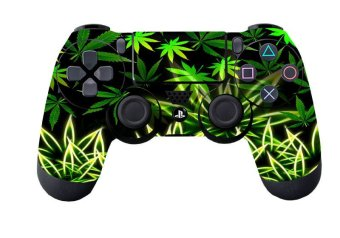 Vivid Green Leaf Skin for PS4 Controller Playstation 4 Sticker Price Philippines