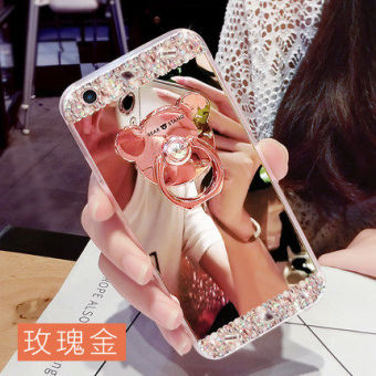 VIVO y51/y55/y55a cute mirror support protective case phone case