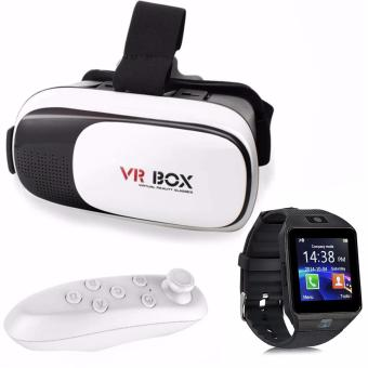 VR Box 3D Virtual Reality Glasses for Smartphone with Modoex M9Smartwatch and VR Bluetooth Controller Price Philippines