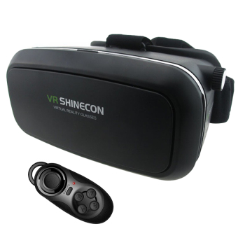 VRBOX SHINECON VR Virtual Reality Headset 3D VR Box Glasses withBluetooth Gamepad Controller (Black) Price Philippines