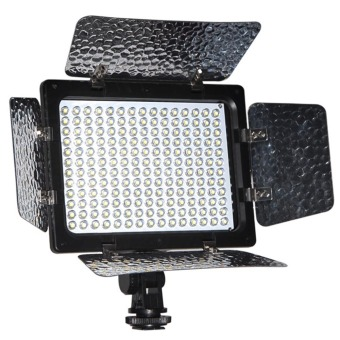 W180 Camera LED Dimmable Video Shooting Light Studio Photography Camcorder Fill LED Light Lamp with Reflector for Canon Nikon DSLR Cameras