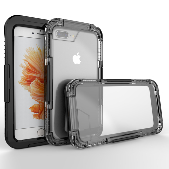 Waterproof Heavy-Duty Full Body Case Cover For iPhone 7 Plus (Black)