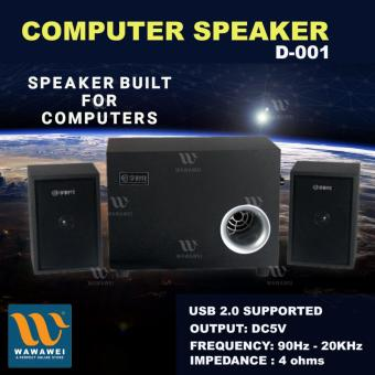 Wawawei #D-001 Deep Base Mini Portable Loud Subwoofer ComputerSpeaker (Black) Price Philippines