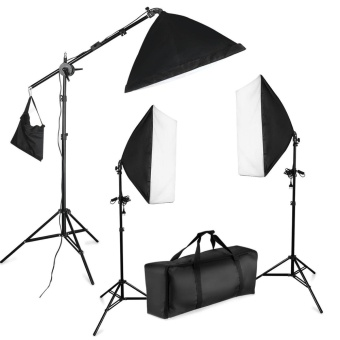 "Wego 3x 1250W 5500K 20""x28""/50x70cm Softbox Continious FluorescentPhoto Video Studio Lighting Kit with Carrying Case for ChristmasFamily Portraiture, Art and Product Photography - intl Price Philippines"
