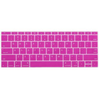 Welink Fashion Silicone US Keyboard Cover Waterproof KeyboardProtector Skin For Apple Macbook 12 Inch (Magenta)