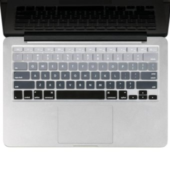 Welink Fashion Silicone US Keyboard Cover Waterproof KeyboardProtector Skin For Apple Macbook Air 13 Inch , Macbook Pro 13 Inch15 Inch And Imac (mix Grey Ombre)