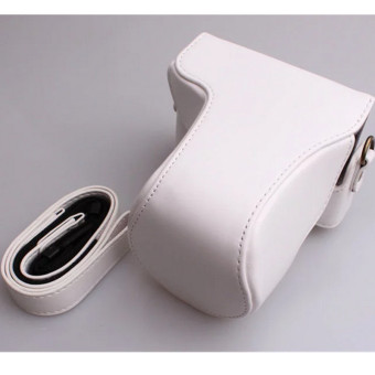White PU Leather Camera Case Bag for Canon EOS M10