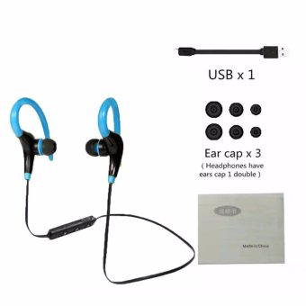 Wireless Bluetooth 4.1 in ear Headphones, Stereo SportWater-Resistant Earphone, Hook Designed Secure Fit for Running GymExercise Headsets (Blue)