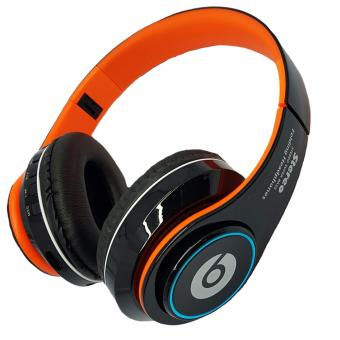 Wireless Bluetooth Beats FM/MP3 with LED light Stereo headphones(Orange/black)