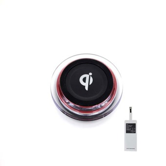 Wireless Charger Set Apple (Qi Red)