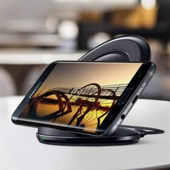 Wireless Fast Charger with Stand for Samsung s6,s6 edge,s7,s7edge,note5(black)