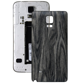 Wood Grain Texture Back Cover Replacement for Samsung Galaxy Note 4 (Grey)