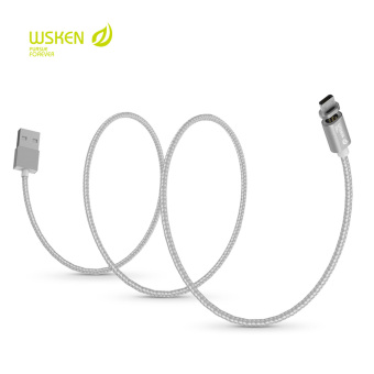 WSKEN X-Cable USB 2.0 Magnetic Micro USB Intelligent Data SyncCharging Cable for Universal (Silver) Price Philippines