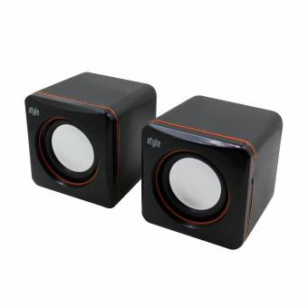 Xtyle Mini USB Active Loud Portable Speaker Box for Desktop Laptop PC (Black) Price Philippines